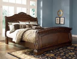 good looking king sleigh bed dark brown california for bedroom
