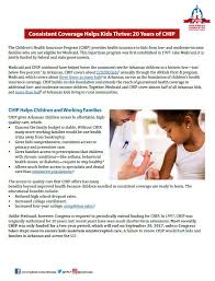 consistent coverage helps kids thrive 20 years of chip arkansas