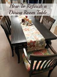 How To Refinish A Dining Room Table - Refinish dining room table