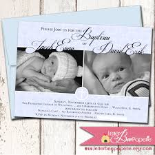 Invitation Cards Baptism Twin Baptism Invitations Twin Christening Invitations Uk