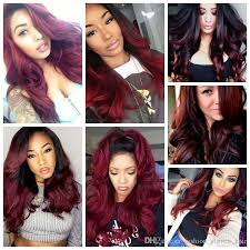 the best sew in human hair two tone ombre burgundy brazilian hair body wave ombre hair