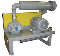 positive displacement blower and vacuum pump package heat