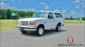 bronco car 1996 davis autosports 1996 bronco 1 owner 49k miles for sale