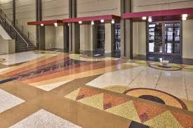 art deco flooring project terrazzo asheville nc public art us cellular center