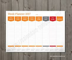 weekly planner template 2018 a3 a2 a1 size pdf format