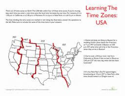 usa time zones time zones geography and fourth grade