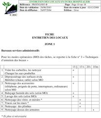 protocole nettoyage bureau annexes jointes annexe 1 fiches d entretien par zone annexe 2