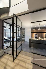 Interiors Of Kitchen by Amusing Of Interior Design Of Kitchen With Glass Door In Black