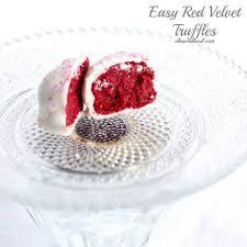 3 ingredient red velvet truffles