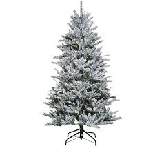 christmas tree with snow santa s best 6 5 snow flurry tree with 7 function led lights