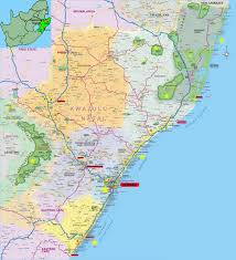 Southern Africa Map Ladysmith Travel Guide Accommodation Tourist Information