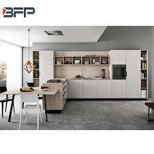 flat white wood kitchen cabinets china moden flat white lacquer l shaped wood kitchen