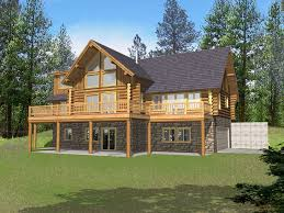 download log house plans with walkout bat adhome