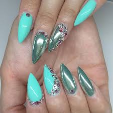 dailycharme com chromepowder over teal chrome nails pinterest