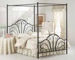Canopy Bed Frame Design Enjoy The Romantic Bedroom With An Iron Canopy Bed Frame Homesfeed