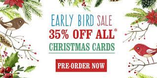 christmas cards sale early bird christmas card sale 35 pre ordered christmas cards