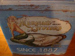 nautical mermaid oysters kitchen canister seafood restaurant