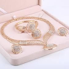 wedding jewelry bracelet crystal images Minhin women delicate gold bridal jewelry sets rhinestone pendant jpg