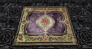 Pink And Black Rugs Second Life Marketplace Victorian Oriental Rug Purple Tan
