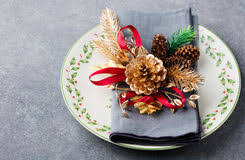 New Years Holiday Decorations by Christmas New Year Holiday Table Setting Celebration Place Setting