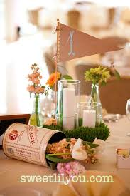 baseball centerpieces our diy vintage baseball wedding sweet lil you
