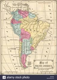 Map Of Sounth America by Original Old Map Of South America From 1865 Geography Textbook