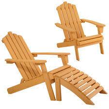 outdoor adirondack wood lounge chair foldable ottoman patio deck