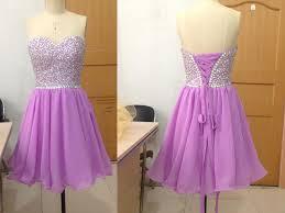 simple graduation dresses pretty light purple beadings sparkle prom dresses