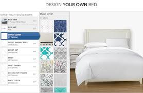 Design Your Own Bed Frame Design Your Own Bed With Pbteen