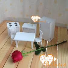 Dollhouse Furniture Kitchen Bl 1 12 Scale Dollhouse Miniature Furniture White Wooden Kitchen