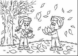 beautiful fall tree coloring pages with autumn coloring pages