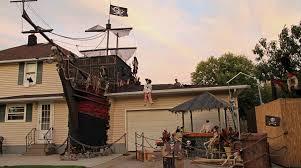 scary halloween yard displays halloween pirate shipwreck yard display make