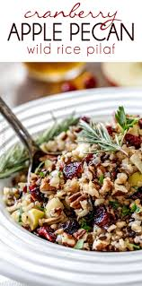 cranberry salads thanksgiving cranberry apple pecan wild rice pilaf recipe wild rice pilaf