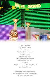 mgm wedding sle mgm grand las vegas wedding invitation invitations by r2