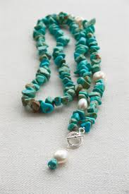 freshwater necklace images Freshwater pearl and turquoise toggle necklace pillow book design jpg