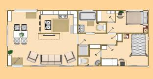 floor plan of our 640 sq ft daybreak floor plan using 2 x 40