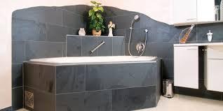 schiefer badezimmer badgestaltung backes