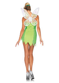 Tinkerbell Halloween Costume Adults 4 Pc Classic Tinker Bell Costume Amiclubwear Costume