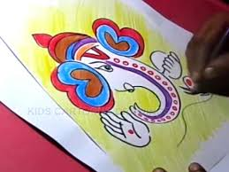 how to draw simple ganesha drawing for kids step by step youtube