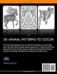 amazon coloring book stress relieving animal designs