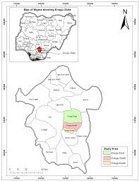 Nigeria State Map by Evaluation Of Groundwater Pollution Sources In Enugu North Lga Of