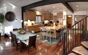 Tv In Dining Room Kitchen And Dining Room Design Of Well Dining Room Tv Room Combo