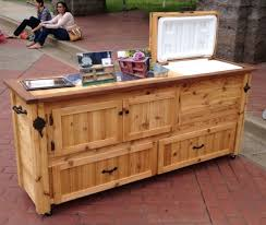 fascinating rustic cooler table buffet sideboard serving