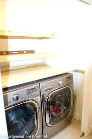table over washer and dryer laundry table with shelves small laundry room shelving ideas amazing