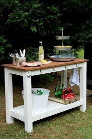 Patio End Table Plans Free by Ana White Build A Grilling Table Free And Easy Diy Project And