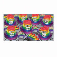 new years party kits beistle new year pride party kit for 50 bulk party supplies