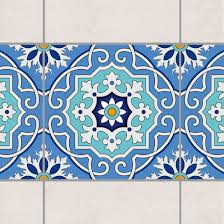 Fliesen Bordre Tile Border Spanish Tile Pattern Blue Turquoise 20cm X 20cm