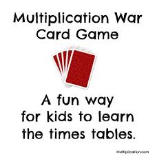 times tables the fun way online multiplication war card game multiplication com