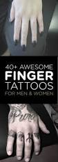 finger tattoo design 40 awesome finger tattoos for men and women tattooblend