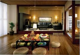 Japanese Style Interior Design by Japanese Style Home Design With Nice Lighting And Wooden Floor